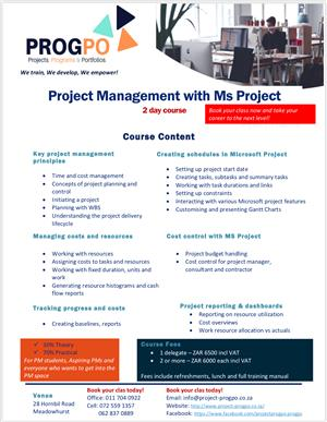 PROJECT MANAGEMENT WITH MS PROJECT
