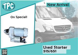 Mercedes Benz Sprinter Used Starter 515-651 for sale at TPC