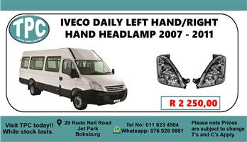 Iveco Daily Left Hand/Right Hand Headlamp 2007 - 2011 - For Sale at TPC