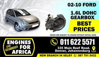 Used Ford Icon Duratec FYJA 1.6L DOHC 02-10 5speed Gearbox FOR SALE