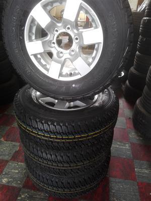 "16"" NP 300 /Nissan hardbody mag wheel and 245/70/16 Firestone Destination AT Tyres"