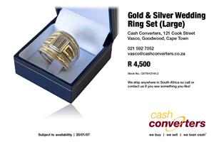 Gold & Silver Wedding Ring Set (Large)