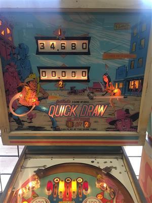 Quick Draw Pinball Machine by Gottlieb 2 player
