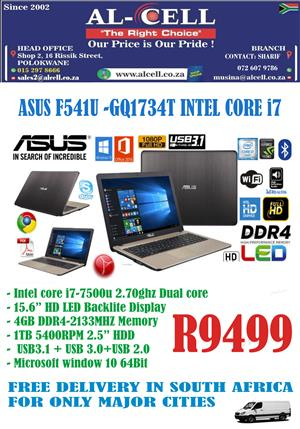 ASUS F541U-GQ1734T Intel Core I7 Laptop