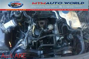 Complete second hand used Audi AKE engines, AUDI A4/A6/A8/QUATTRO 2.5L TDI engines,