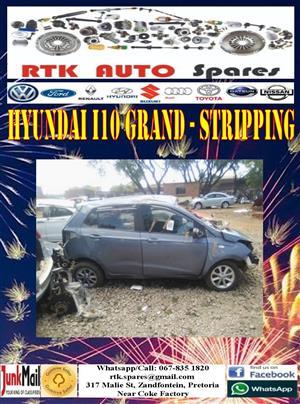 Hyundai i10 Grand (2015-2019) - Stripping for Spares