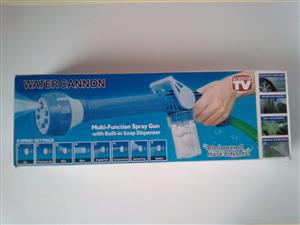 Water Cannon Multifunction Spray Gun with built in soap dispencer.