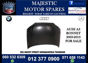 Audi A3 bonnet for sale - Black