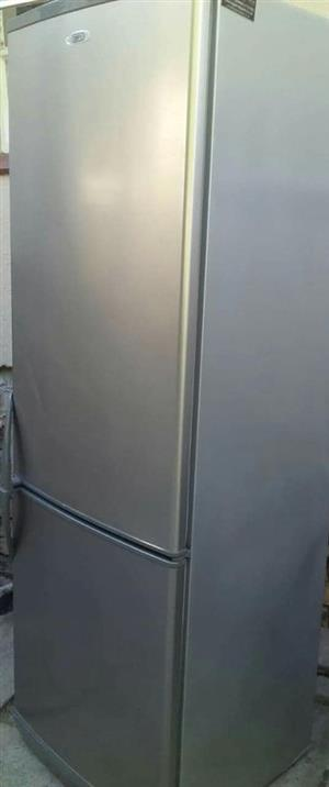 Large silver fridge & freezer in very good condition for sale