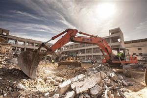 We do rubble removal, demolition and site clearance