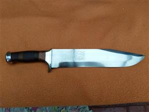 Large handmade bowie knife
