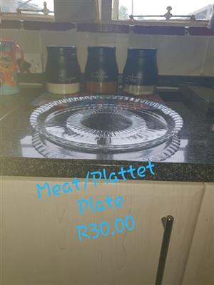 Glass meat platter for sale
