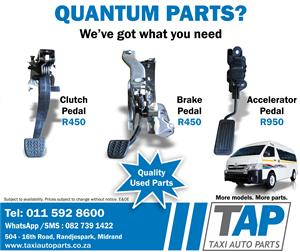 Quantum CLUTCH, BRAKE, and ACCELERATOR PEDALS - Quality used spares for sale  at Taxi Auto Parts - TAP
