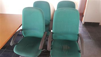 Green swivel chairs