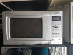 Defy metallic silver digital microwave