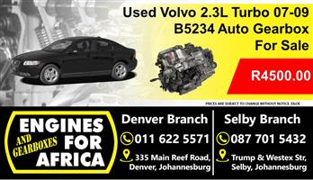 Used Volvo B5234 2.3L Turbo 07-09 Auto Gearbox For Sale