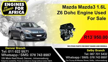 Mazda Mazda3 1.6L Z6 Dohc Engine Used For Sale.