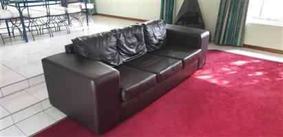Genuine Leather Couch 3 Seater 2.4m x 1.0m