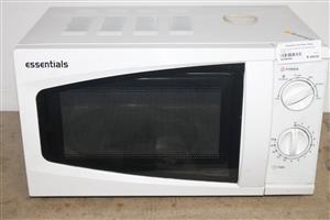 ESSENTIALS WHITE MICROWAVE OVEN 17L S039045A #Rosettenvillepawnshop