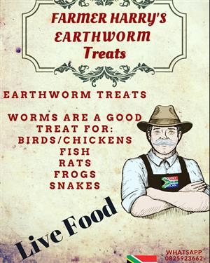 Farmer Harrys Earthworms - Garden ,Composting , Fishing and Pet Treats
