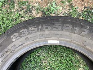 Continental 235/55/R17 Tyre For Sale