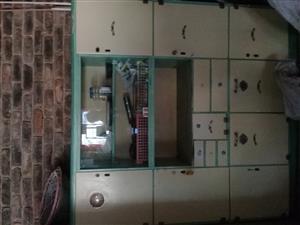 Cream art deco kitchen cupboard with original matching enamel table