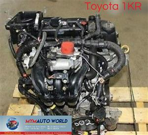 Imported used TOYOTA YARIS 1.0L , 1KR engine Complete