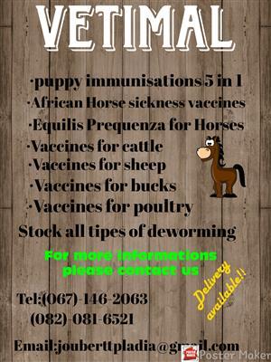 VETIMAL (Pharmaceuticals for animals)