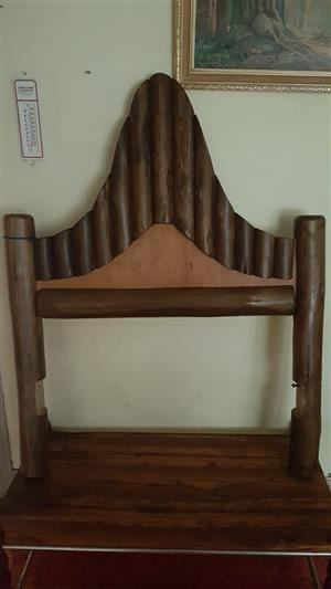 Single log bed and matress