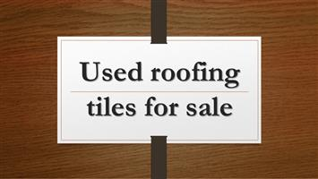 Used roofing tiles for sale