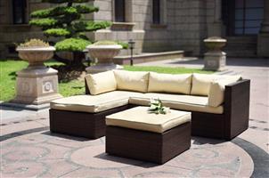 Hazlo Cadenza Wicker Outdoor Sectional Living Sofa Patio Set