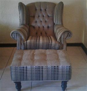 Wingback Chairs and Footstools