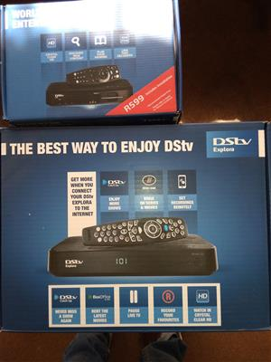 DSTV HD single view and Explora decoders