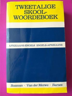 Tweetalige Skoolwoordeboek - Bosman - Van Der Merwe - Barnes - REF: 3320.