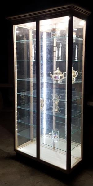 Display Cabinets with Unrestricted view, Glass shelves ,Dust Proof!  Beautiful Custom made quality.