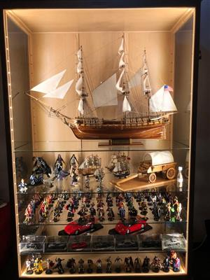 DISPLAY CABINETS - Figurines, Models and Collectibles Show/ Display Cabinets, Unrestricted view, Dust Proof!