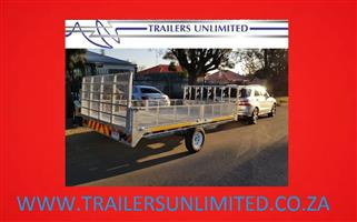 TRAILERS UNLIMITED FLATBED TRAILERS HOT DIPPED GALVANIZED SINGLE AXLE.