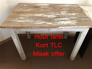 Wooden table needs tlc