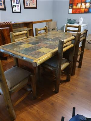 Log furniture 6 seater dining room