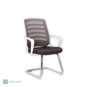 Chrome White Nite Visitors Chairs | Office Stock
