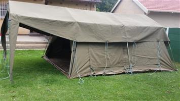 Canvas tent sleeps 8