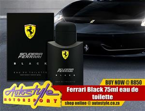 Ferrari black and red original licensed perfumes and fragrances,