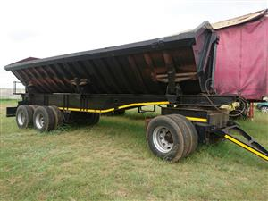 D/axle Drawback (20 cube) Tipper trailer