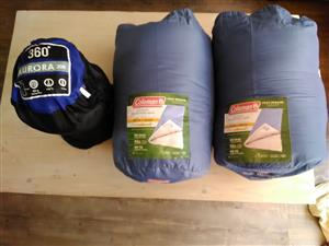 3 Sleeping bags for sale.