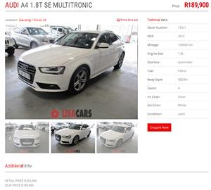 2013 Audi A4 1.8T Ambition multitronic