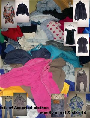 Lots of assorted clothes