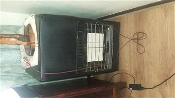 3 pannel gas heater incl 9kg bottle