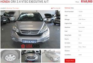 2012 Honda CR-V 2.4 Executive auto