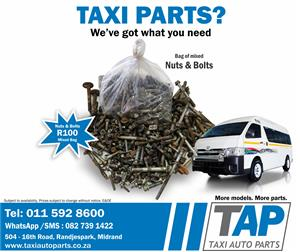 Mixed Bag of NUTS & BOLTS - quality used taxi spares - TAXI AUTO PARTS  - TAP