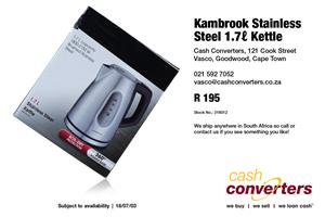 Kambrook Stainless Steel 1.7 Kettle